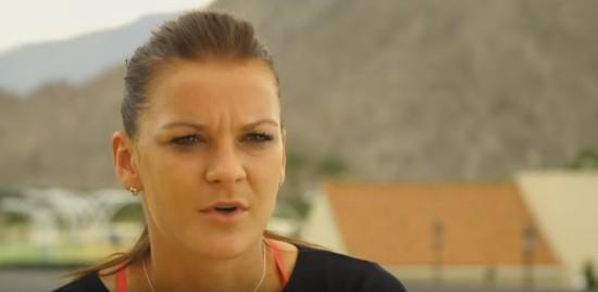 Angieszka Radwańska wywiad po angielsku